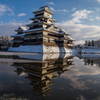 白銀の松本城