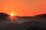 竹田城跡と日の出