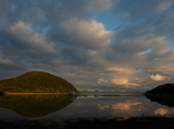 猪苗代湖の夕暮れ2