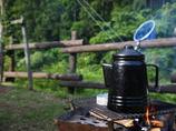 キャンプの朝