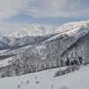 スキー場から見た白馬の山々