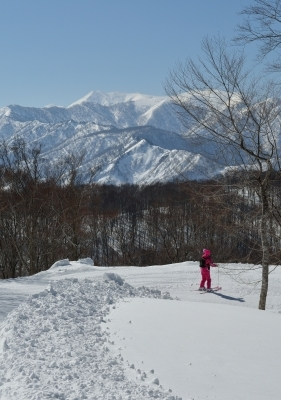 湯沢高原から見た谷川岳
