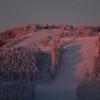 スキー場の朝焼け