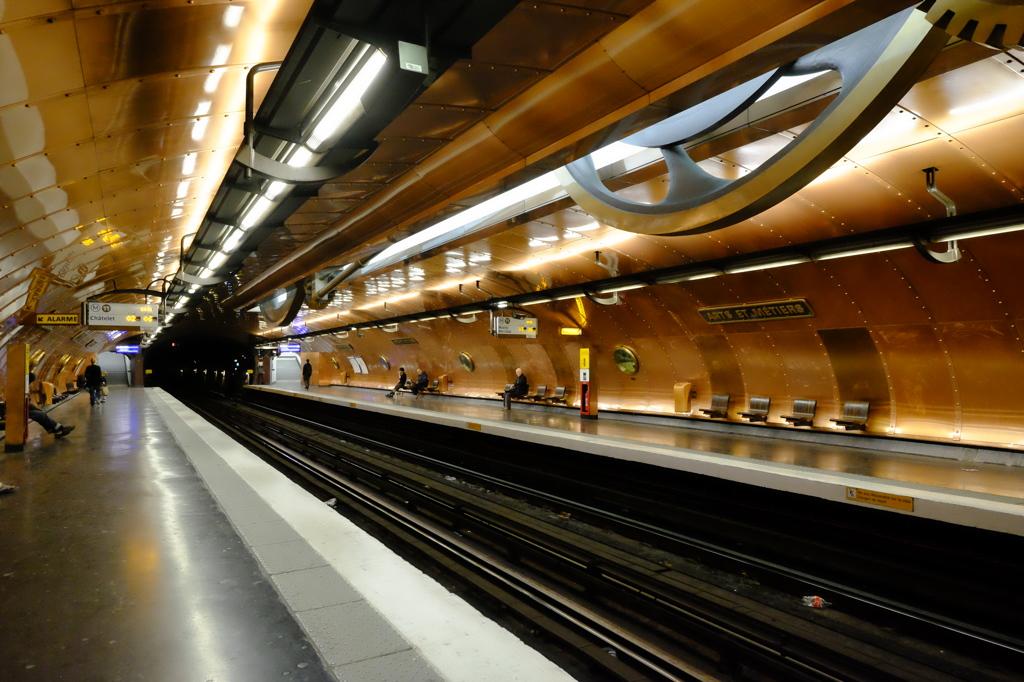 パリ メトロ3号線「Arts et Meti...