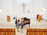 聖堂にてヴァイオリニスト演奏会