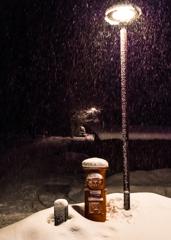 雪降るポスト