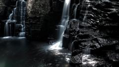 右からの荷担滝