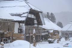 大内宿 雪2