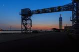 ☆道の駅あきた港の夕日 --旅の途中--