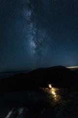 Lantern light and Milky Way