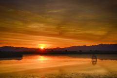 福島潟日の出