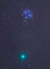 M45とウィルタネン彗星