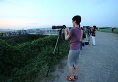 千里川撮影風景