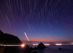 黄昏の浦富海岸