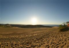 砂丘夕暮れ