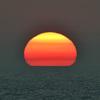 白兎海岸に沈む夕日