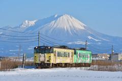 妖怪列車と名峰大山