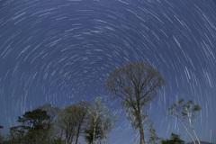 めぐる北斗七星と北天の星々