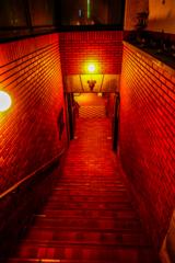 熟成館への階段