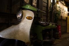 ラーメン博物館のオートバイ