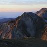 杓子岳の朝