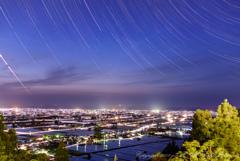舟見城址からの星の軌跡