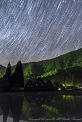 白川郷に星降る夜
