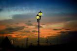 夜明けの空と…