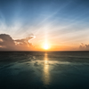 glow of the setting sun