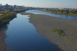多摩川のグラデーション