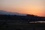 日没の多摩川