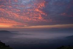 朝焼けと雲海