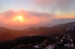 最高峰からの夜明け