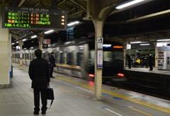三ノ宮駅、冬の朝