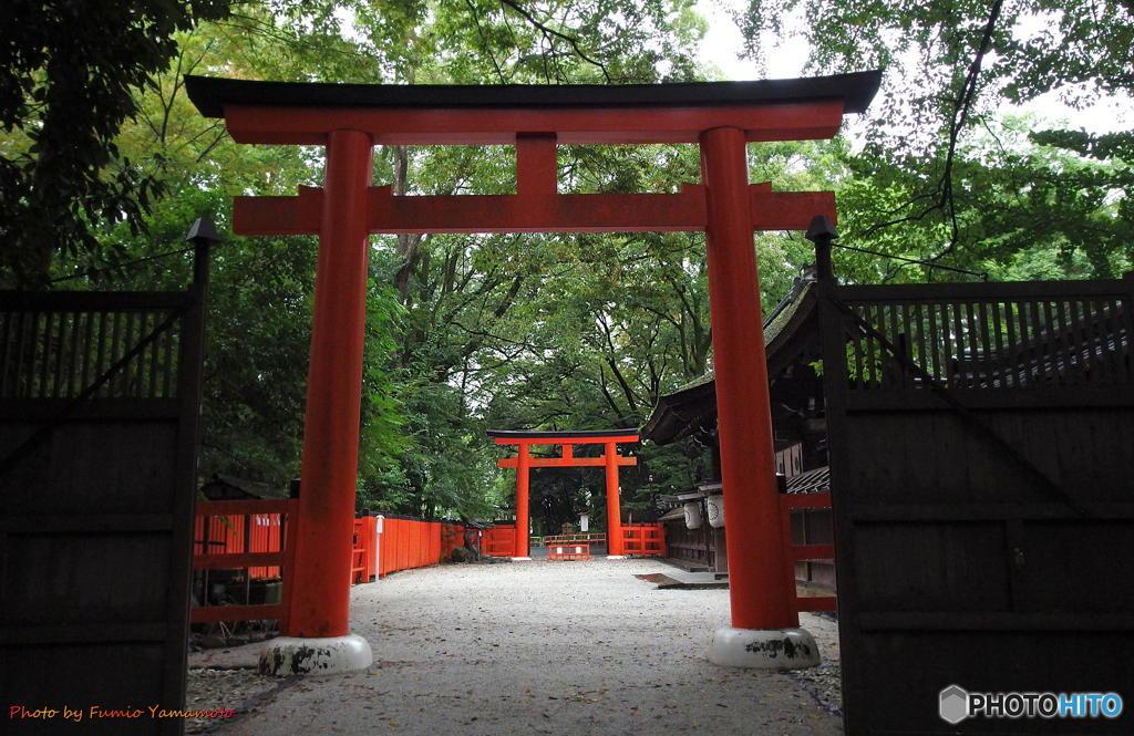 曇天の河合神社 その1