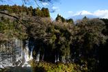 富士を望む滝