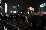 雨の新宿大ガード交差点