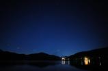 芦ノ湖の星景(広角)