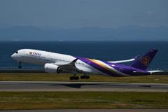 セントレア タイ航空A350 今度は横から
