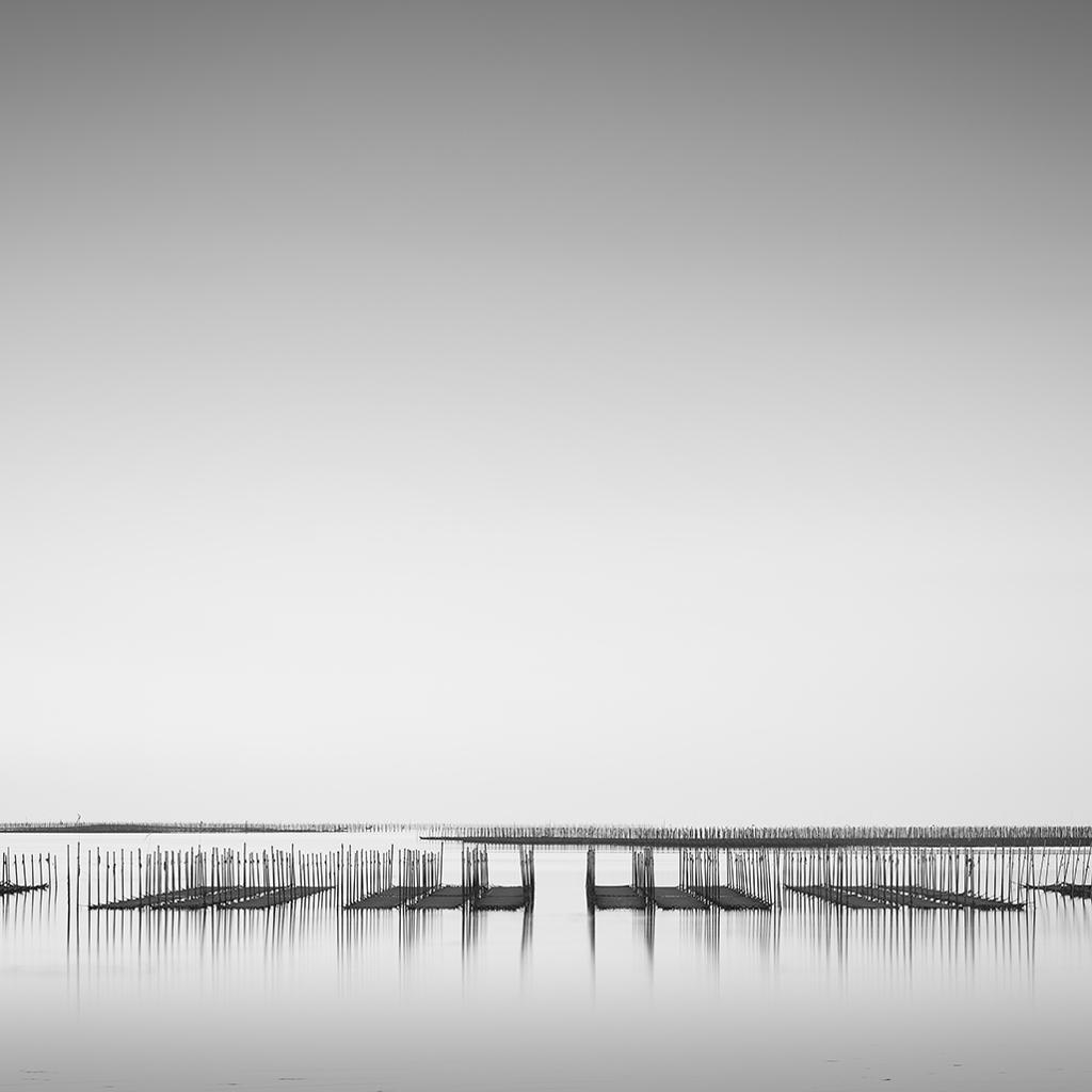 海苔漁場、雨上がり
