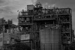 日本触媒 川崎製造所千鳥工場 モノクロ