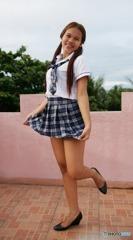 コスプレだけど日本だったら女子高生です。