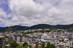 六甲山を望む