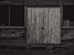 unopened  door
