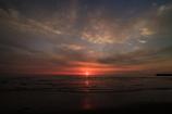 吹上浜に日が沈む