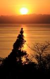 日置の夕陽