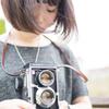 portrait# Retro camera girl