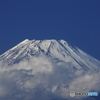 富士憧憬21(頭を雲の上に出し)