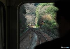 坪尻駅スイッチバック