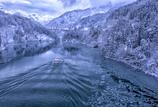 庄川峡雪景色